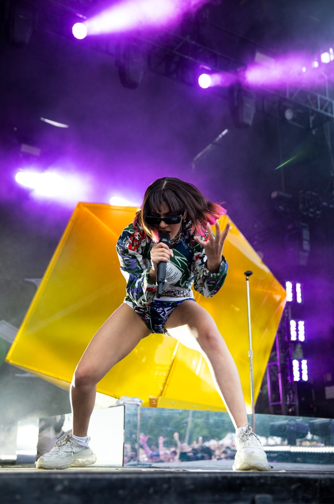 Charli XCX performs at Pitchfork 2019.
